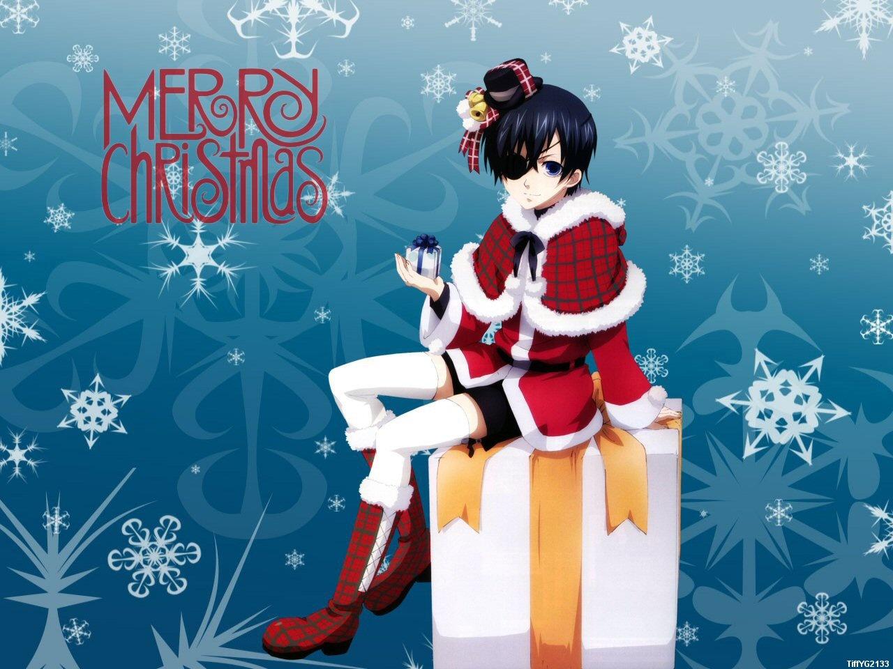 Аниме новый год открытка