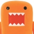 Domo-Kun Orange Flocked Figure Ver.