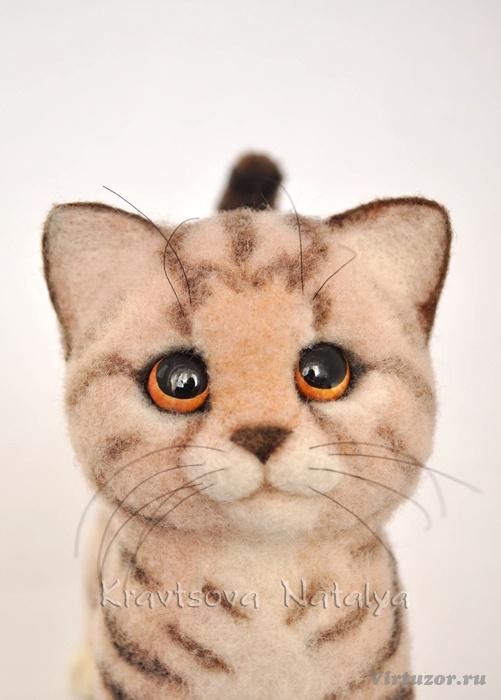 Мастер класс по сухому валянию из шерсти кошек