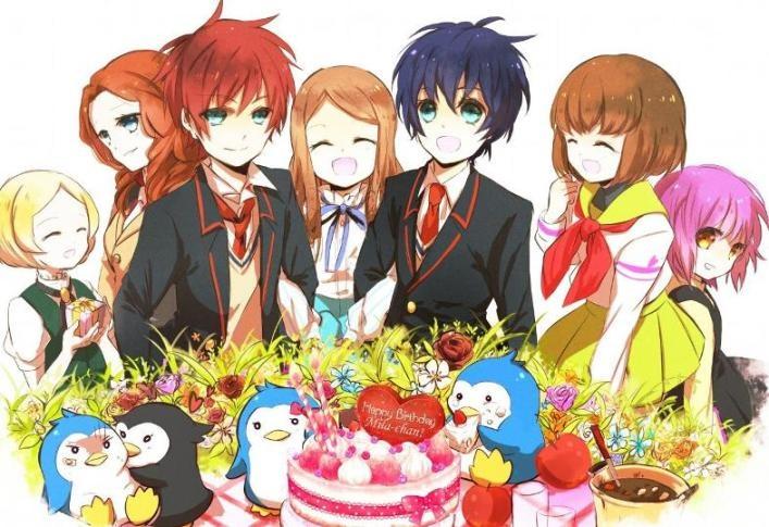 с днем рождения девушке картинки аниме
