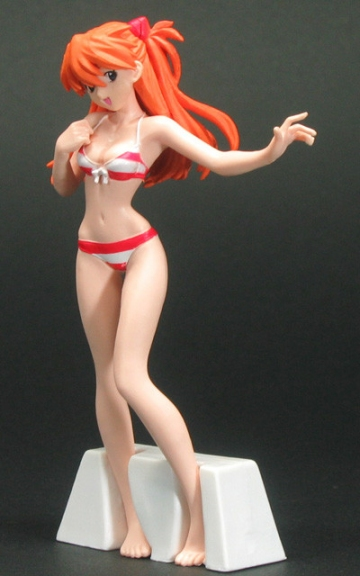 главная фотография HGIF Evangelion File 03 Yoshiyuki Sadamoto Collection: Soryu Asuka Langley Stripe Swimsuit Ver.