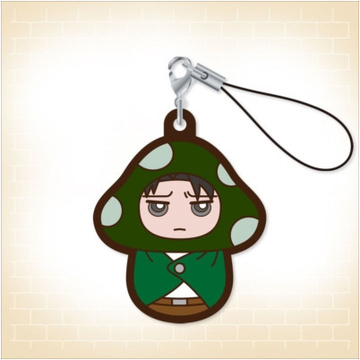 главная фотография Charanoko Attack on Titan Rubber Strap: Levi