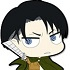 Attack on Titan Trading Rubber Strap: Levi