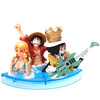фотография One Piece Noodle Figure: Monkey D. Luffy, Nami and Brook