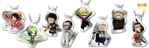 фотография One Piece Log Memories Plate Keychain: Sanji, Tony Tony Chopper