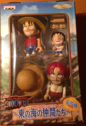 главная фотография One Piece Mini Figure Set: Monkey D. Luffy, Young Luffy and Shanks
