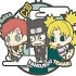 Rubber Mascot Buddy Colle NARUTO Shippuden: Three Man Seru Dattebayo! Hen: Three Sand Siblings