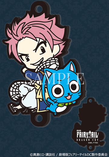 главная фотография FAIRY TAIL Dragon Cry rubber strap Rakuten: Natsu Dragneel & Happy