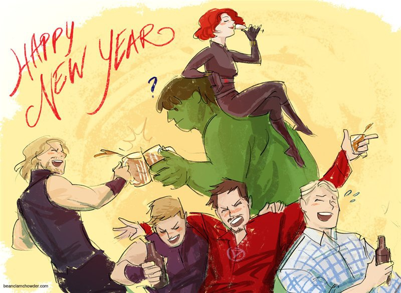 Открытки мстители с новым годом